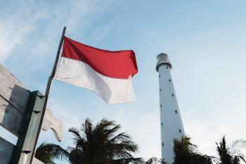 Mercusuar megah di Pulau Lengkuas